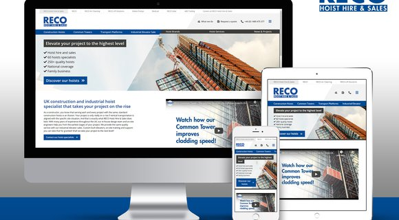 RECO Hoist Hire & Sales introduces new website: this is how you want to buy or rent a hoist!