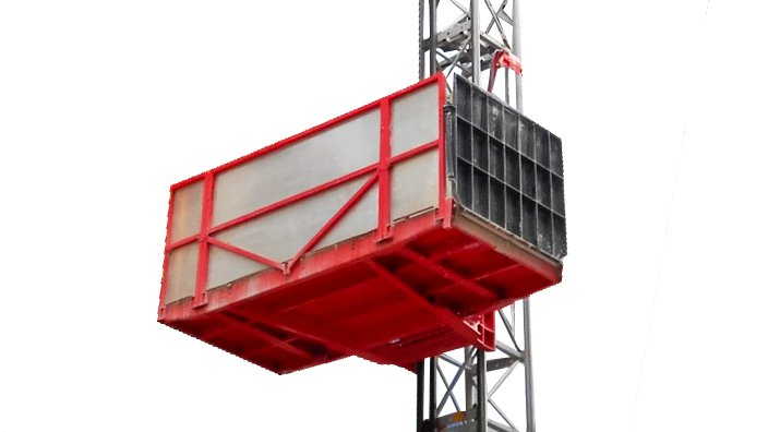 An Alimak Scando M Goods-only hoist for building materials