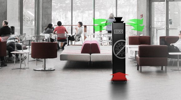 RECO Air Purifier prevents virusus from spreading indoors: Ventilation only isn't enough to battle COVID-19!